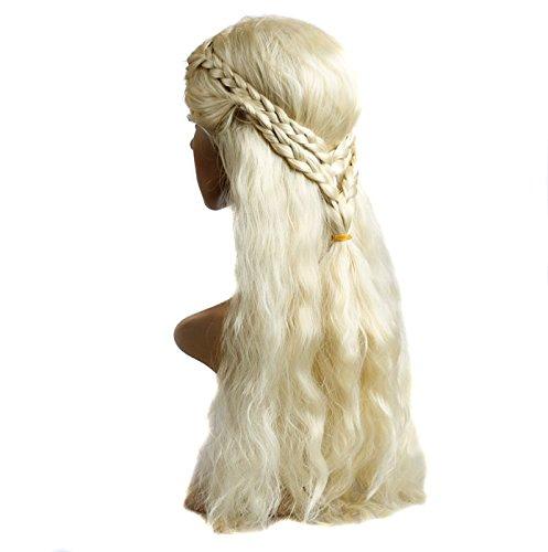 OnePlus Light Blonde Curly Princess Costume Wig for Game of Thrones GOT Khaleesi Thrones Daenerys Targaryen