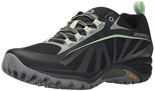 Merrell Women's Siren Edge Waterproof Hiking Shoe, Black/Paradise, 8 M US