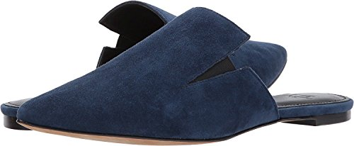 Marc Fisher Womens Shiloh Leather Pointed Toe Slide Flats Dark Blue Suede
