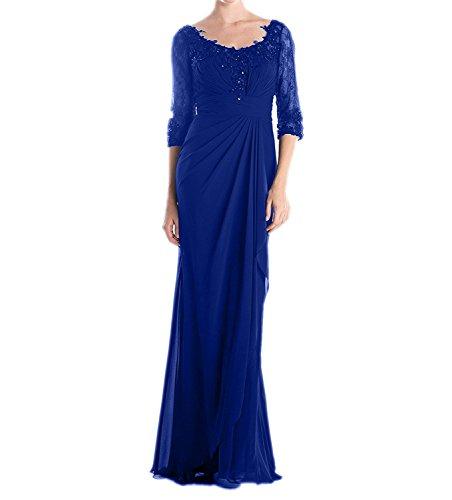 A Langarm Damen Lang Charmant Spitze Schwarz Elegant Linie Blau Partykleider Brautmutterkleider Royal Rock Abendkleider qz4tRwUnxt