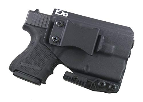FDO Industries (Formerly Fierce Defender IWB Kydex Holster Glock 26 w/ TLR6 -The Paladin Series -Made in USA- (Black)