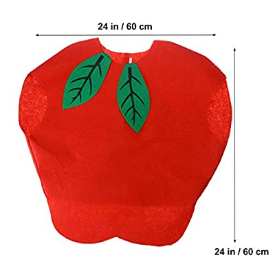 LUOEM Kids Fruit Vegetables Costume Children Party Cosplay Clothing for Children Toddler Boys Girls (Apple): Arts, Crafts & Sewing