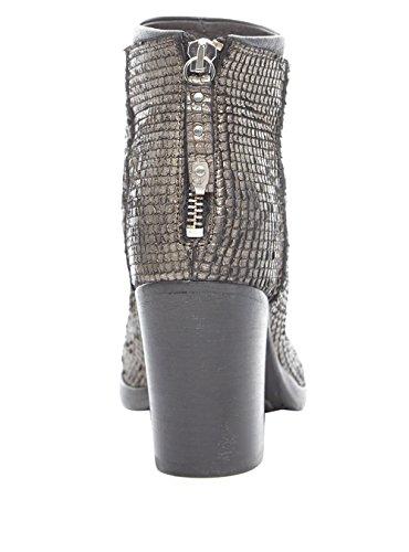 MOMA - Botas de Gamuza para mujer Plateado plata plata