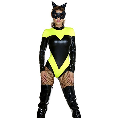 Sexy Superheroes (Forplay Women's Nocturnal Knockout, Yellow, Small/Medium)