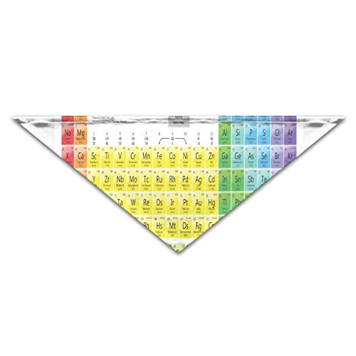 HJudge Dog Bandana Printable Periodic Tables for Chemistry Dog Scarf Vintage Pet Neckerchief