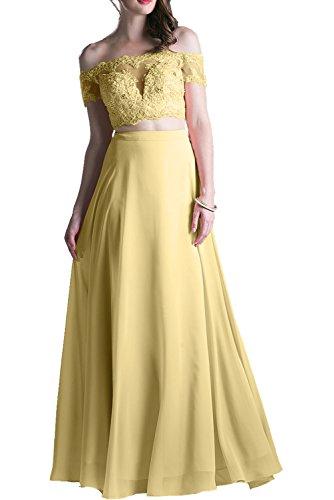 Damen Spitze Charmant Abendkleider Gelb Promkleider Kurzarm Rosa Langes Ballkleider Hell Abschlusskleider C1gwdqE