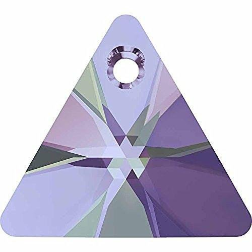 (6628 Swarovski Pendant Xilion Triangle | Crystal Vitrail Light | 12mm - Pack of 4 | Small & Wholesale Packs)