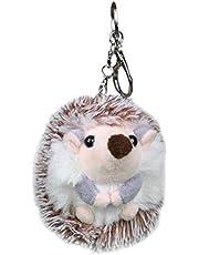 Lurrose Grijze egel sleutelhangers geschenk pluche sleutelhouder schattige hanger mooie sleutelhangers ambachtelijke ornamenten