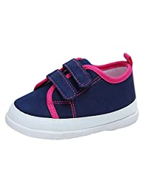 Kuner Baby Boys and Girls Cotton Rubber Sloe Outdoor Sneaker First Walking Shoes