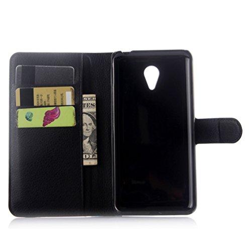 Funda MEIZU M2 Note,Manyip Caja del teléfono del cuero,Protector de Pantalla de Slim Case Estilo Billetera con Ranuras para Tarjetas, Soporte Plegable, Cierre Magnético B