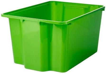 IKEA GLES – Caja, Verde – 28 x 38 x 20 cm: Amazon.es: Hogar