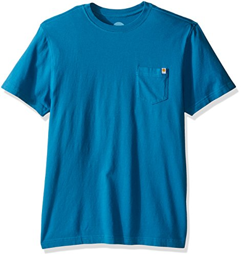 Life is Good Men's Pocket Take It Outside Crusher Tee, Denim Blue, Medium