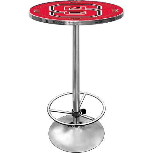NCAA North Carolina State University Chrome Pub Table by Trademark Gameroom