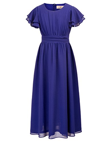 Kids Vintage Dresses for Mother&Child Tea Party 11yrs CL703-2 Blue