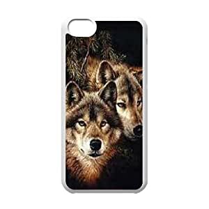 Durable Material Phone Case With Wolf Image On The Back For iPhone 5C