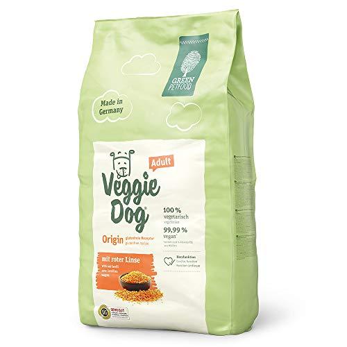 Green Petfood VeggieDog Origin Adult (1 x 10 kg)   vegetarisches und glutenfreies Hundefutter mit roter Linse…