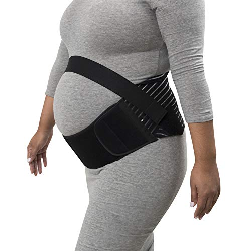 - Houseables Maternity Belly Band and Abdominal Binder, Breathable Pregnancy Support Belt, Size Large, Black, Elastic Waist Support, Prenatal Back Brace, Pain Relief Wrap
