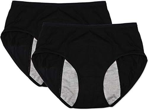 Women/Girl Leak Proof Protective Panties for Menstrual Cycle Period or Postpartum Bleeding Underwear(Pack of 2)