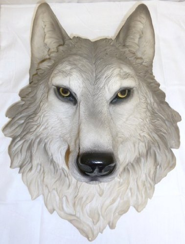 ih casa décor DW-17781 Resin Wolf Head, Remus