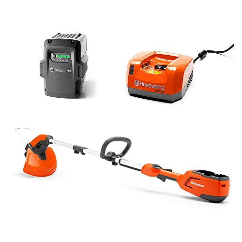 Husqvarna Edger Trimmer + 36-Volt 2.1 Ah Lithium-Ion Battery + Battery Charger by Husqvarna