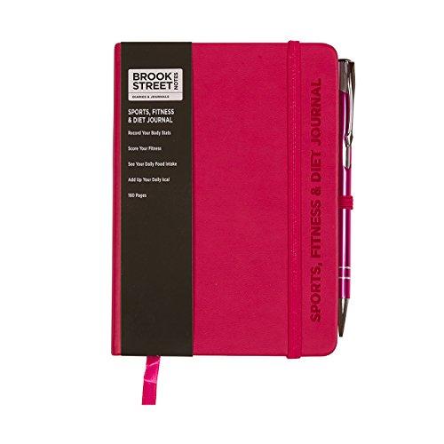 Sports, Fitness & Diet Notebook – Hardback A6 Diet Gift (Fuchsia Pink)
