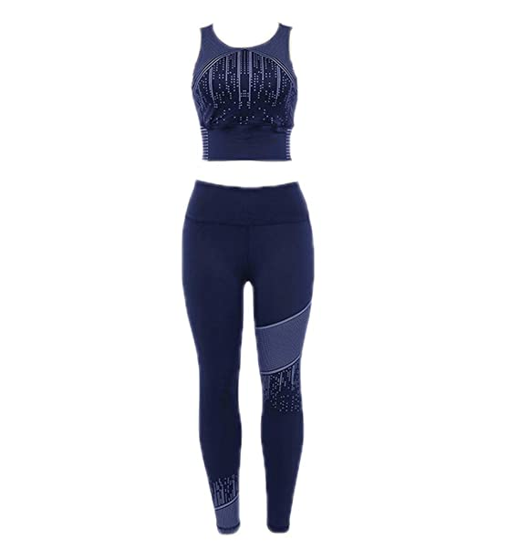 Hellomiko Jogging Traje Tank Top + Pantalones Deportes Mujer Lunares Impresos Yoga Ropa Deportiva Conjunto
