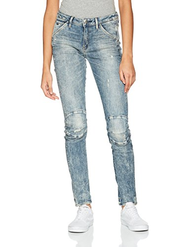 Destroy Aged STAR G Blu Light RAW Donna Vintage Skinny Jeans vZzw8R