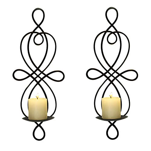 FrameArmy Iron Wall Candle Holder Sconce (Set of 2) ()