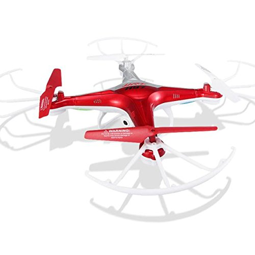 Dreamyth JJRC H97 2.4GHz 4CH 6-Axis LED With Camera RC Quadcopter Drone Druable (Red) by Dreamyth