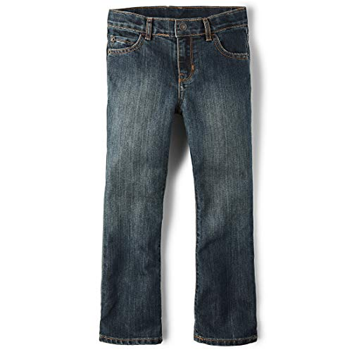 The Children's Place Big Boy's Bootcut-Jeans, Dust Bowl Wash, 4