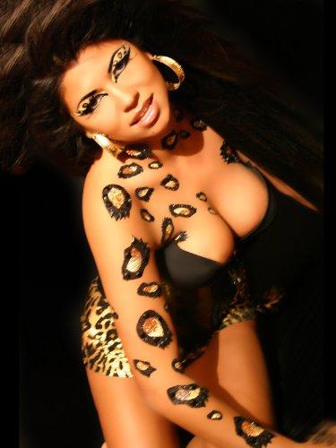 Cheetah Body Temporary BODY ART Dancer Stripper Animal Costume Xotic Eyes (Stripper Costumes)
