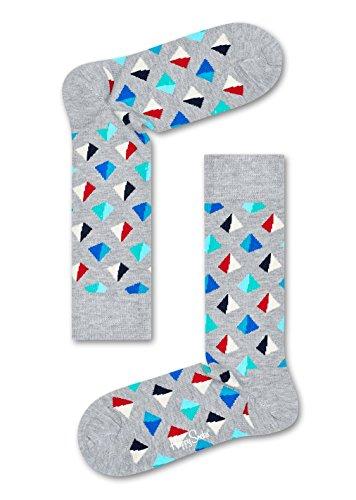 Happy Socks Pyramid Sock Pyramid Gray, Red 10-13