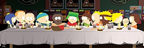 South Park Poster The Last Supper + 1 pack tesa powerstrips, 20 pieces
