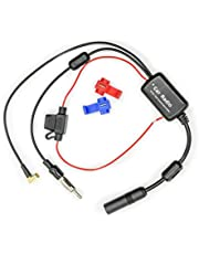 Vecys FM/AM DAB DAB + Auto antenne Signaalversterker Booster SMB Vrouwelijk naar DIN mannelijk Adapter 12V Digitale radio Antennesplitter voor vrachtwagen Auto Audio Stereo DAB + Digitale autoradio