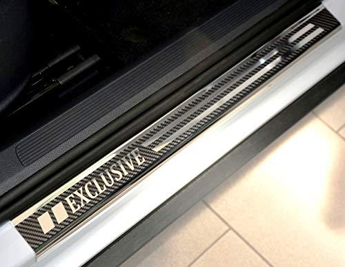 V-Protect Exclusive Edelstahl Carbon Einstiegsleisten 2045-401