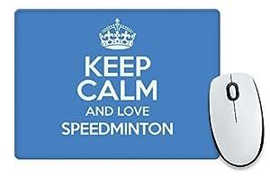 Azul KEEP CALM AND LOVE speedminton alfombrilla de ratón color 1041