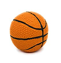 """Basketball - Soft, Squeaky Dog Toy - Natural Rubber (Latex) - for Medium Dogs & Large Dogs - 4"""" Diameter -Complies with Same Safety Standards as Children's Toys - Indoor Play"""