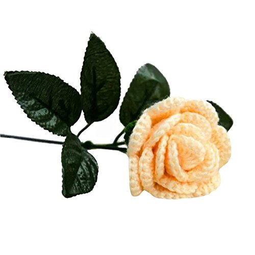 UIFIDI Handmade Weave Rose Flower DIY Weave Bridal Bouquet Wedding Party Home Decor