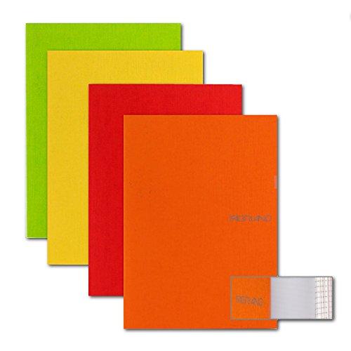 Ecoqua Blank Pocket Size Ntbk Warm Colors 4Pk