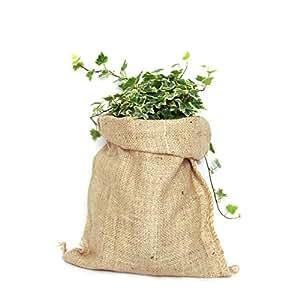 Saco de Yute 100% Natural - Pack 3 Bolsas Ecológicas. Ideal para Decoración de Cocina, Jardín, Huerto Urbano y Fiestas Vintage. Bolso Ecológico para ...
