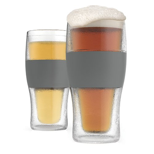 Frosted Pint Glass (FREEZE  Cooling Pint Glasses (Set of 2) by HOST)