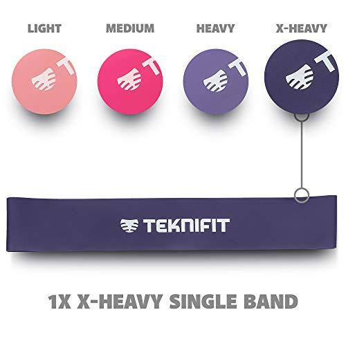 Teknifit Single Resistance Band | Choose Between 4 Strength Levels | 12
