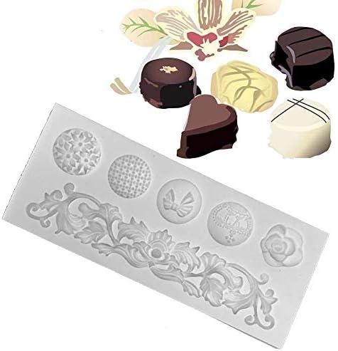 ZHQJY Baroque Scroll Relief Border Moules en Silicone DIY D/écoration De G/âteau Outils Cupcake Topper Fondant Chocolat Polym/ère Argile Bonbons Moules