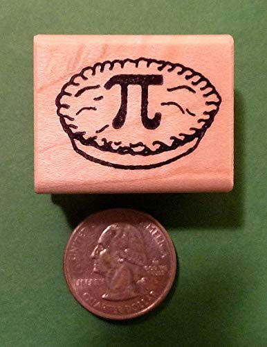 OutletBestSelling PI Pie Teacher's Rubber Stamp, Wood Mounted