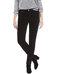 Women's Faux Velvet Skinny Pant with Stretch