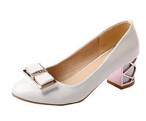 Tire Verni Agoolar L Rond Couleur Femme Unie Chaussures qwwfE8t