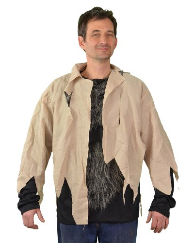 Zagone Monster Shirt, Torn shirt with Grey Faux