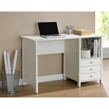 Fabulous Amazon Com Techni Mobili Contempo Desk White Kitchen Dining Interior Design Ideas Clesiryabchikinfo