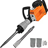 Mophorn 3600W Electric Demolition Hammer Heavy Duty Concrete Breaker 1800 RPM Jack Hammer Demolition Drills with Flat Chisel Bull Point Chisel