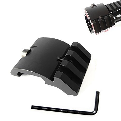 FIRECLUB Ultra Low Profile Offset Picatinny Mount 45 Degree 20mm Side Black for Red Dot, Mangifiers, Flashlights